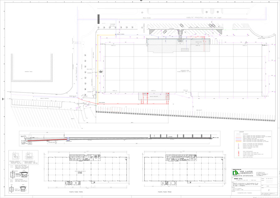 Sewerage plant technical drawings | De Luca Associati - Structural Engineering